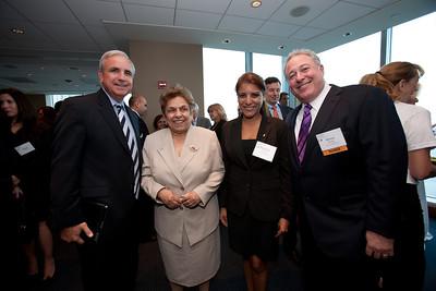 Major Carlos Gimenez, President Donna Shalala, Stephanie Horna and Steven Brodie