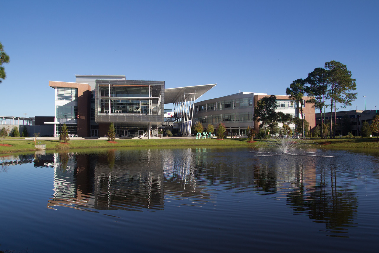 University of North Florida (UNF) Student Union (Building 58) in Jacksonville, Florida USA on November 23, 2013.