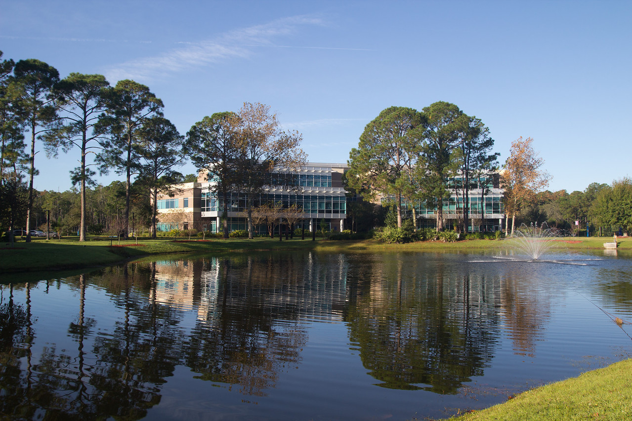 University of North Florida (UNF) Tom and Betty Petwy Hall (Building 57 College of Education and Human Services) in Jacksonville, Florida USA on November 23, 2013.
