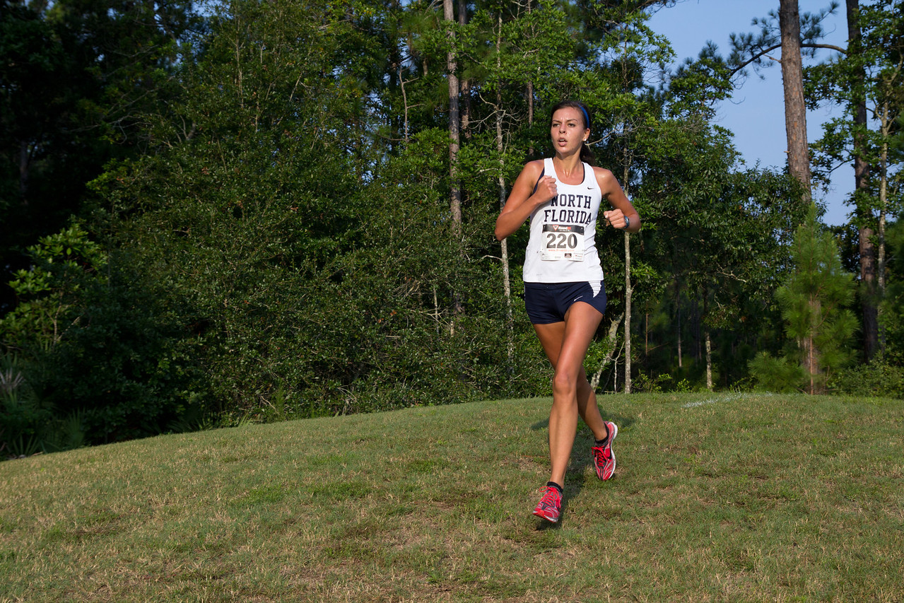 Runners compete in the University of North Florida Cross Country Challenge on August 31, 2013 in Jacksonville, Florida USA.