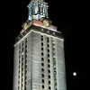 UT Tower and Moon, no border