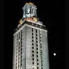 UT Tower and Moon, with black border