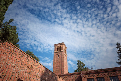 Clouds seen over Trinity Hall on Thursday, September 7, 2017 in Chico, Calif. (Jason Halley/University Photographer)