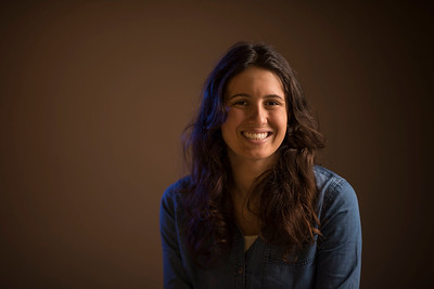 Rachel Curtin, recipient of the Mac Martin Award for the 28th Annual University Awards, is photographed in the studio on Wednesday, March 22, 2017 in Chico, Calif. (Jason Halley/University Photographer)