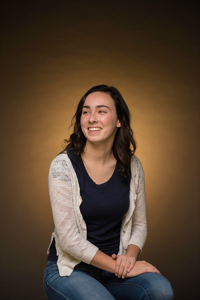Bethany Fitch was awarded the Sigma Phi Epsilon President Scholarship, whose portrait is photographed in the studio on Wednesday, December 14, 2016 in Chico, Calif. <br /> (Jason Halley/University Photographer)