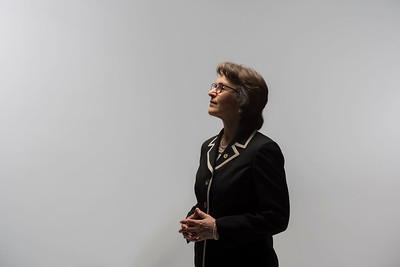 President Gayle Hutchinson is photographed in the studio on Tuesday, February 28, 2017 in Chico, Calif. (Jason Halley/University Photographer)