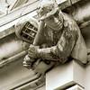 Baseball gargoyles on SW facade of Savery Hall