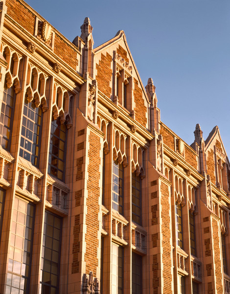 Gargoyles on NW facade of Miller Hall