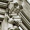 Scholarly gargoyle on NW corner of Smith Hall