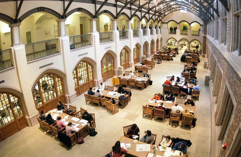 The Commons, a study area in Mary Gates Hall