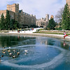 Duck swimming hole in Frosh Pond.  February, 1989
