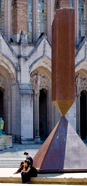 Broken Obelisk and entrance to Suzzallo Library