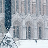 Snowstorm in Red Square, February, 1989