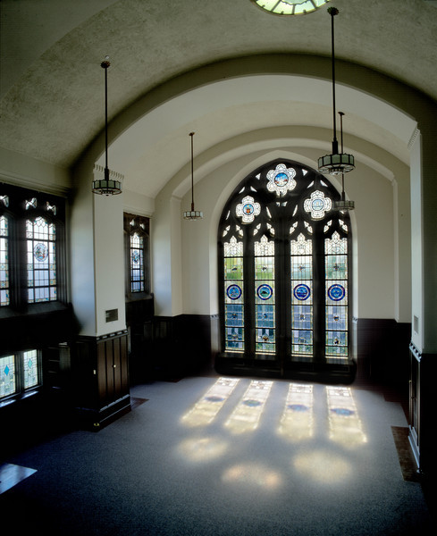 Stained glass in the Smith Room, Suzzallo Library