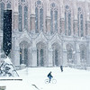 Snowstorm in Red Square, January, 1989