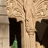 """Mastery,"" one of three figures above the portals to Suzzallo Library.  The other two figures represent ""Thought"" and ""Inspiration"""