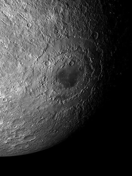 Mond No.  Mare Orientale on the Lunar surface