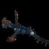 Very Small, juvenile ornate ghost pipefish, again following my lights