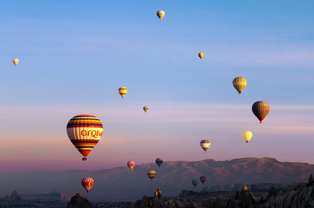 Balloons in the Sun