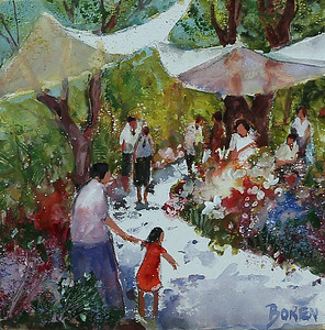 San Miguel Flower Market 12x12 wc