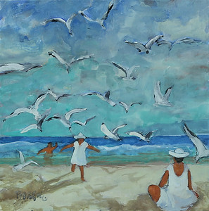Song Of The Seagulls 16x16 wc