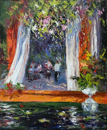 Special Event Botanical Garden Puerto Vallarta 30x36 oil