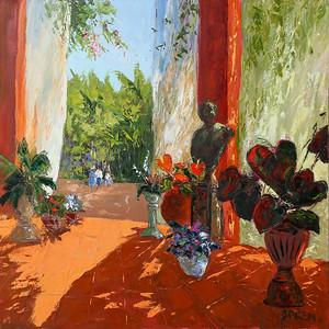 First Impression Botanical Garden Puerto Vallarta 45x45 oil
