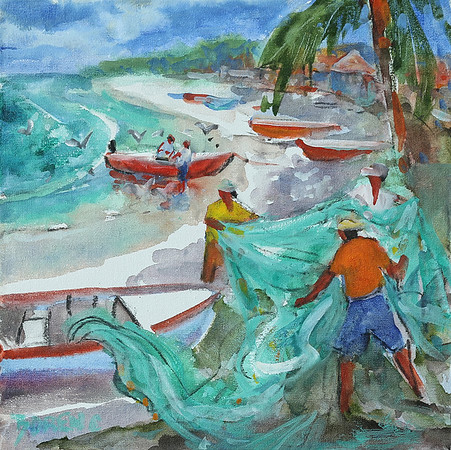 Bringing In The Nets 12x12 wc