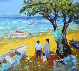 Beach_Life_45x50_oil