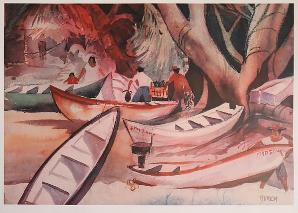 Las Lanchas De Pesca 18x26