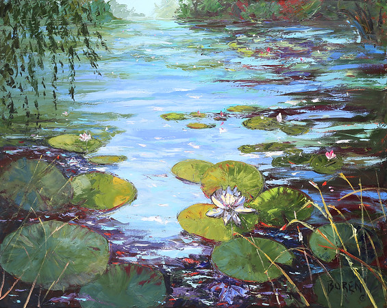 Morning_Breeze_On_The_Lily_Pond_48x60_oil