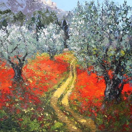 Foothills_of_Les_Baux_De_Provence_45x45_oil
