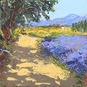 Scent Of Lavender 12x12 oil