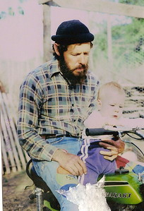 On Motorcycle with Daddy