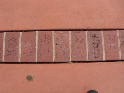 children's artworks in brick
