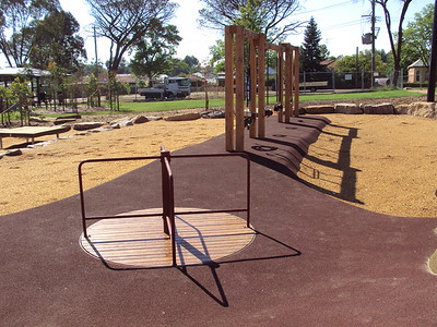 roundabout and quad timber swing