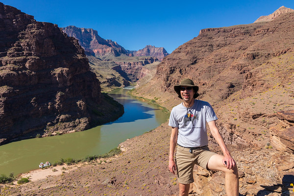 Gordon Smith hikes the Tabernacle in the Grand Canyon.