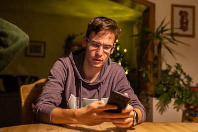 Lahnstein, Germany - 04.01.20; Backen und Spieleabend bei Alex.  In photo: Alexander RITSCHL  Photo by: Jan von Uxkull-Gyllenband