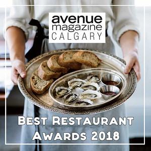 2018 - Calgary's 25 Best Restaurants