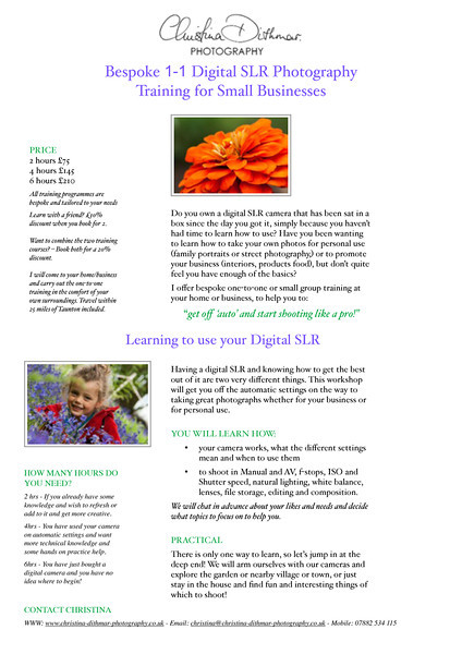 TRAINING COURSE DIGI TOG PAGES flier redesign