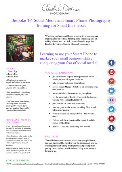 TRAINING COURSE SOCMED Pages flier redesign