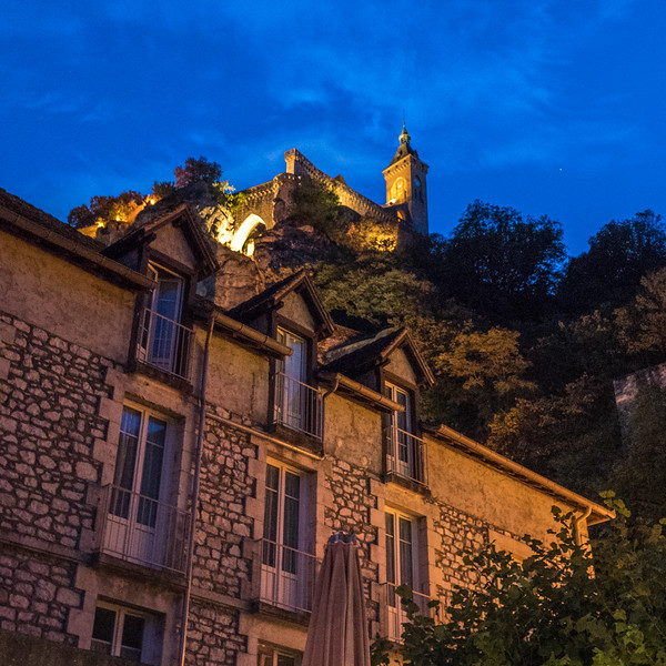 Rocamadour in the evening