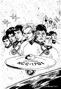 Classic Star Trek - The Original - The Best Pen and Ink - Illustration Board
