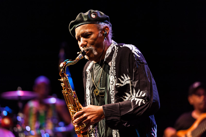 Charles Neville and The Neville Brothers in New Orleans, 2012