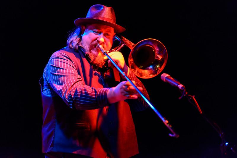 Tilt-a-Whirl Band - Mike Rinta on the trombone, red light
