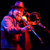 Tilt-a-Whirl Band - Mike Rinta on the trombone, red light