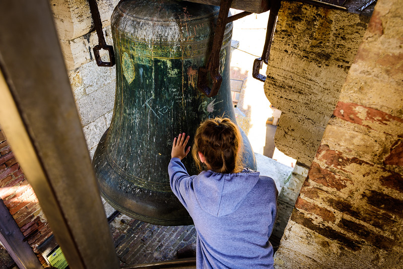 Touching a Really Old Bell