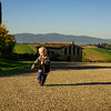 Tommy Running in Tuscany
