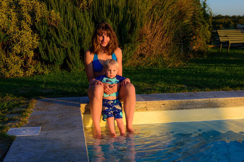 At the Tuscan Farmhouse Pool