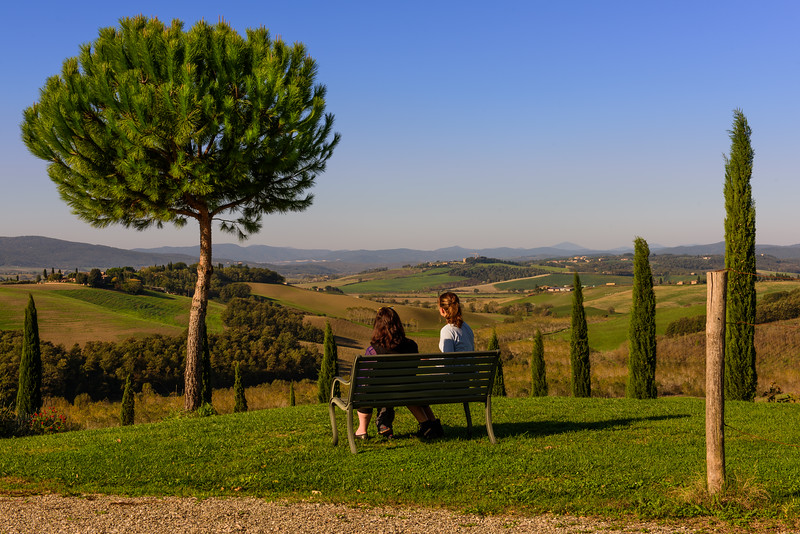 Enjoying the View of the Tuscan Countryside